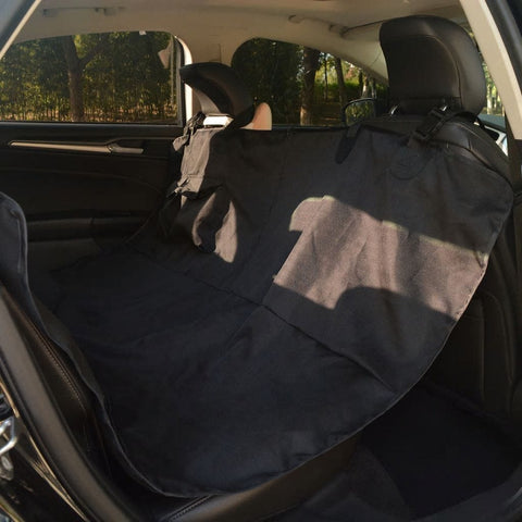 Image of Pet-Rear-Car-Seat-Cover-Barrier-148x142-cm-Black-Inside-the-Car
