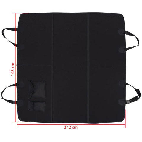 Image of Pet-Rear-Car-Seat-Cover-Barrier-148x142-cm-Black-Measurement