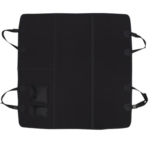 Image of Pet-Rear-Car-Seat-Cover-Barrier-148x142-cm-Black-Top-View
