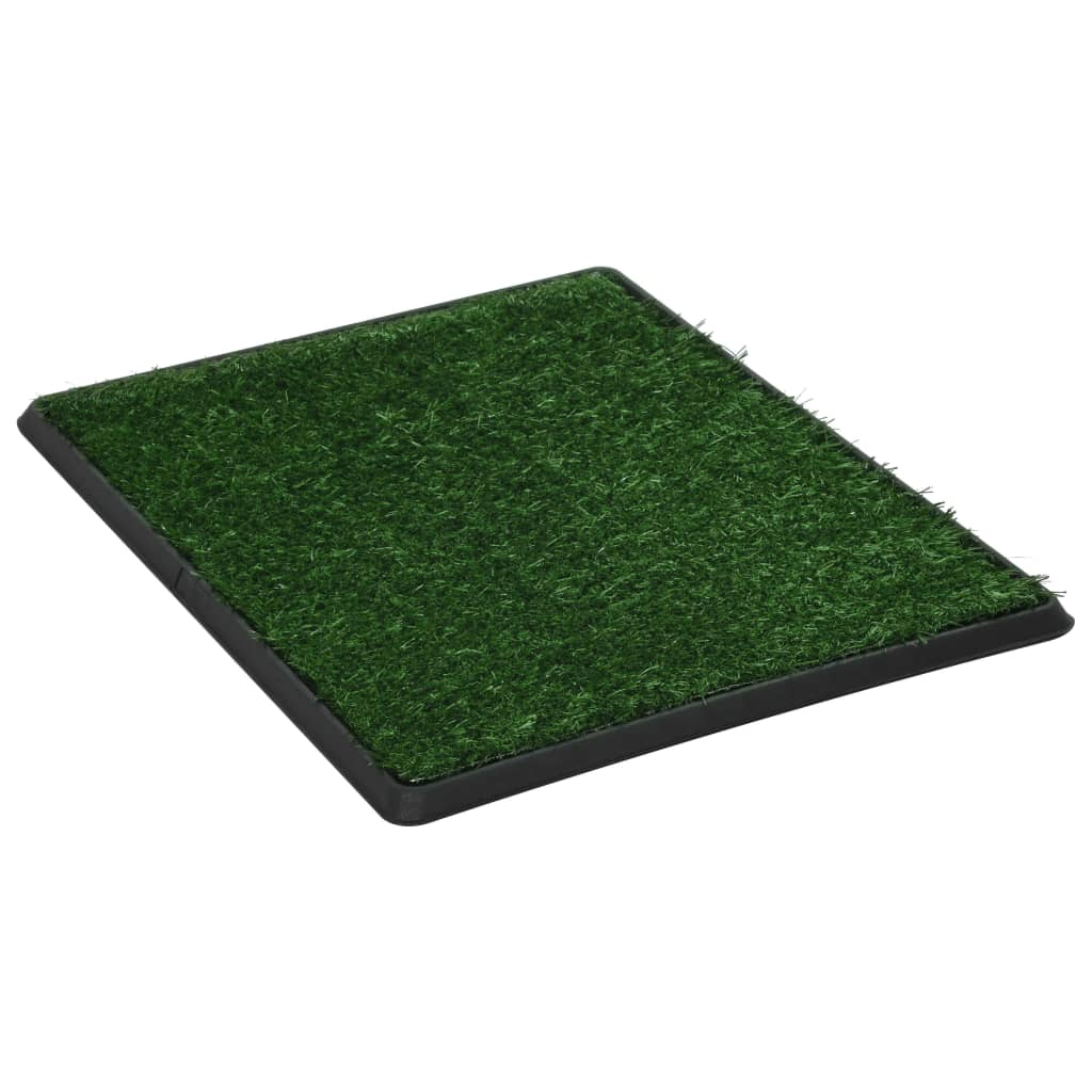 Pet Toilet with Tray and Artificial Turf Green 64x51x3 cm WC