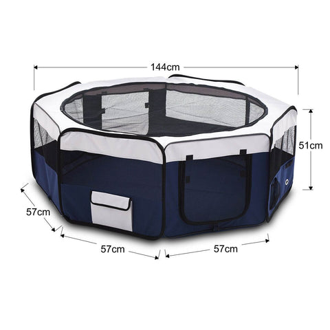 Image of Pet Enclosure Washable Pet Dog Puppy Playpen With Carrying Bag 8 Panel Steel Frame Lightweight measurement