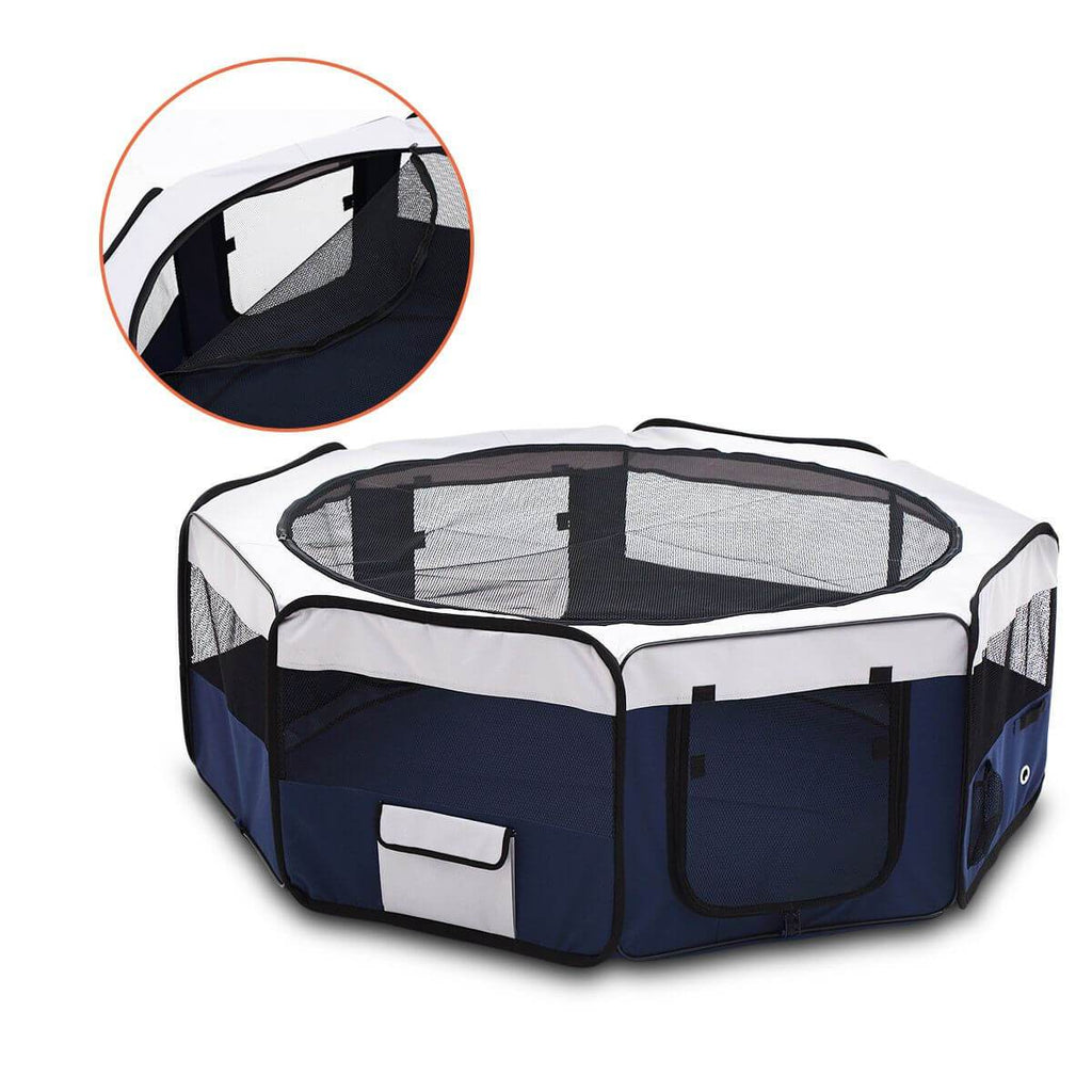 Pet Enclosure Washable Pet Dog Puppy Playpen With Carrying Bag 8 Panel Steel Frame Lightweight sides