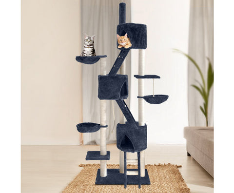Image of i.Pet Cat Tree 244cm Trees Scratching Post Scratcher Tower Condo House Furniture Wood