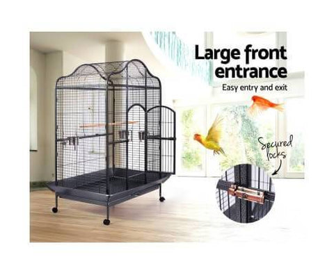 Pet Bird Cage with Large Front Entrance