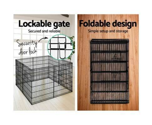 Pet Cage with Foldable Lockable Cage