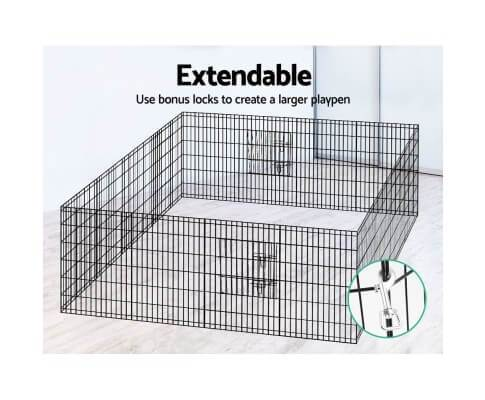 Pet Cage with Locks Included for Joining the Panels