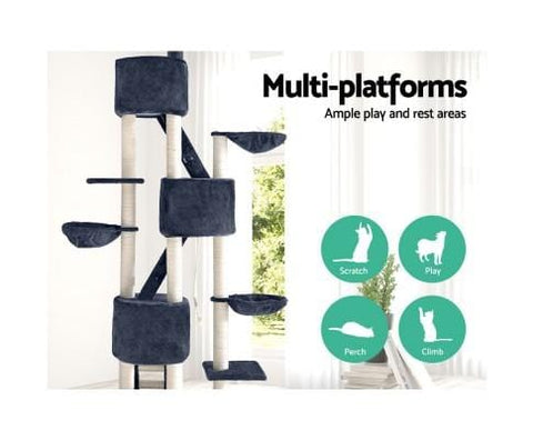 Image of Pet Cat Tree with Multi Platforms 244cm