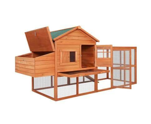 Pet Chicken Nesting Room with Lift-up Roof