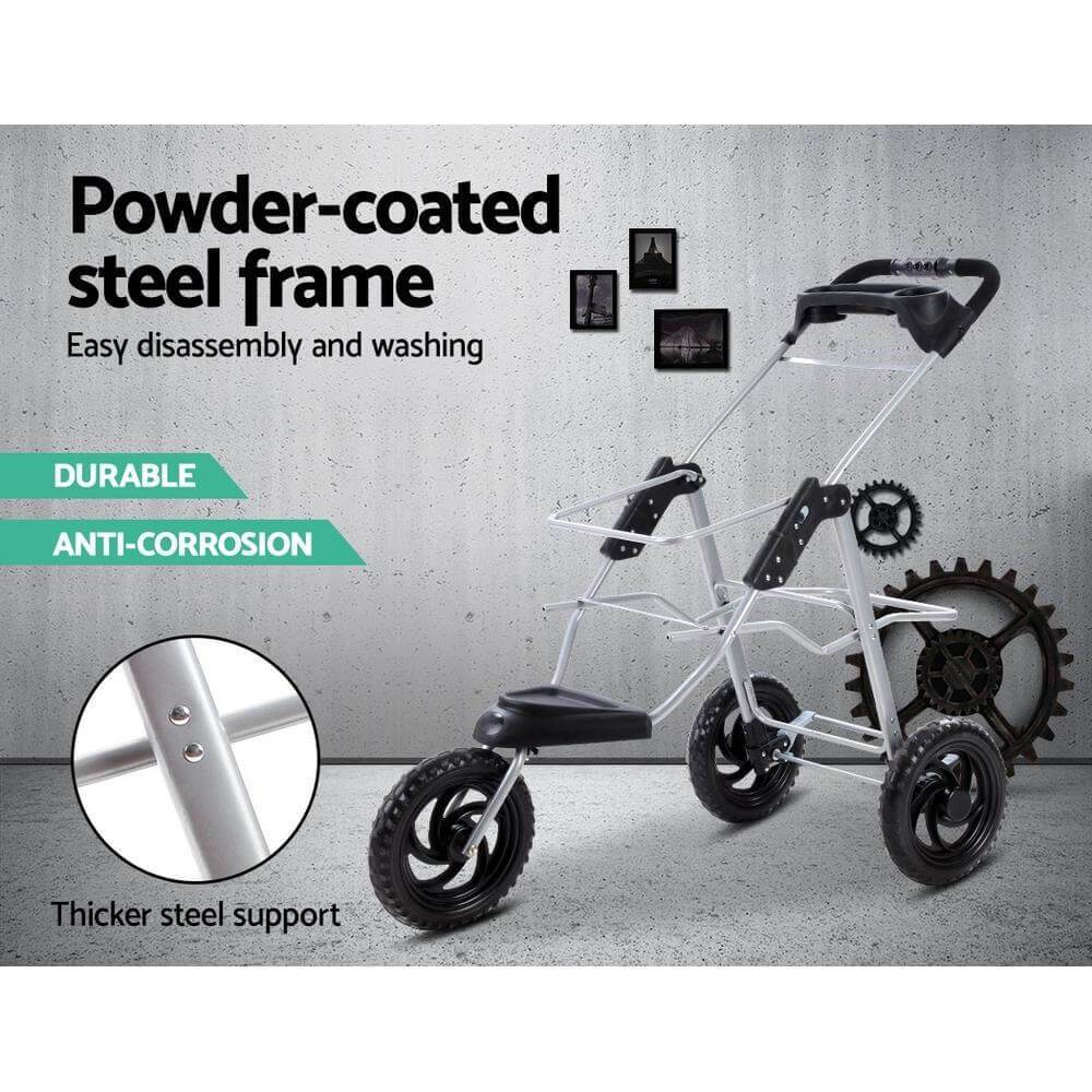 Powder Coated Steel Frame Dog Puppy Stroller