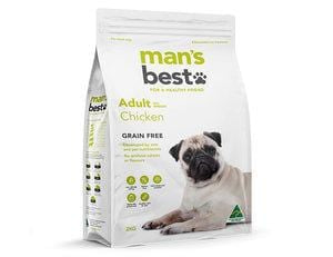 Man's Best Grain Free Premium Chicken Adult Dog Food 2kg Everyday Pets