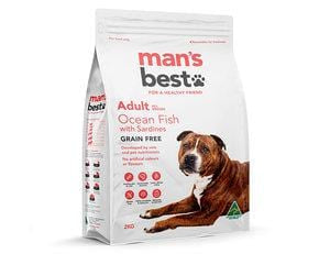 Man's Best Adult Dog Grain Free Adult Dog Food Ocean Fish 2kg Everyday Pets