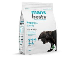 Man's Best Grain Free Premium Lamb Puppy Dog Food 12kg Everyday Pets