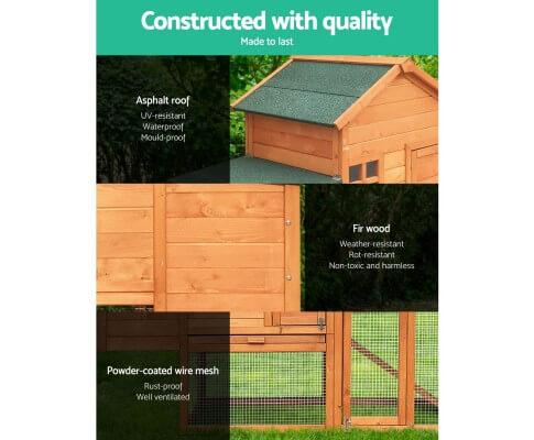 Quality Waterproof Fir Wood and Asphalt Roof for Weather Protection