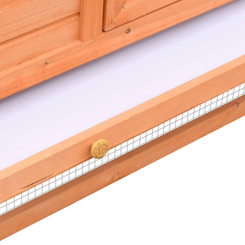 Image of Rabbit Hutch Solid Pine & Fir Wood Pull-Out Tray Everyday Pets