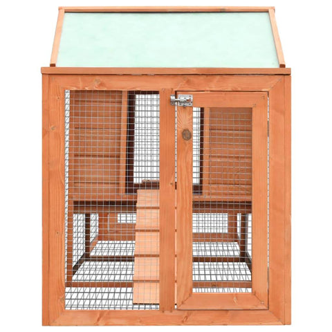 Image of Rabbit Hutch Solid Pine & Fir Wood Secure Slide Bolt Latches Everyday Pets