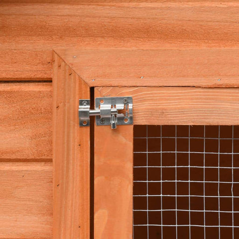 Image of Rabbit Hutch Solid Pine & Fir Wood Slide Bolt Latches Everyday Pets