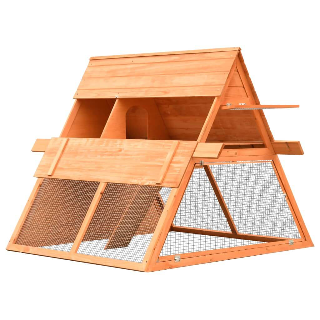 Rabbit Hutch Solid Pine and Fir Wood Easy Closed Hinged Doors Everyday Pets