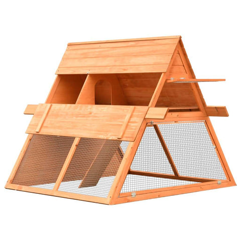 Image of Rabbit Hutch Solid Pine and Fir Wood Easy Closed Hinged Doors Everyday Pets