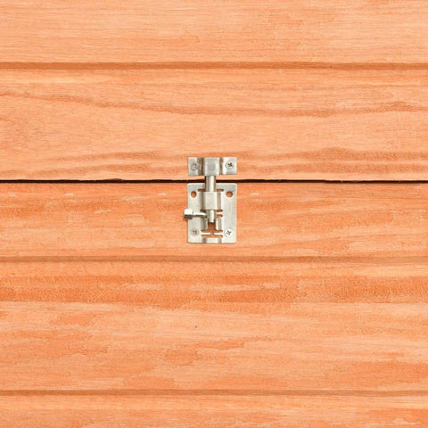 Image of Rabbit Hutch Solid Pine and Fir Wood Easy-Lock Safety Side Bolt Latch Everyday Pets