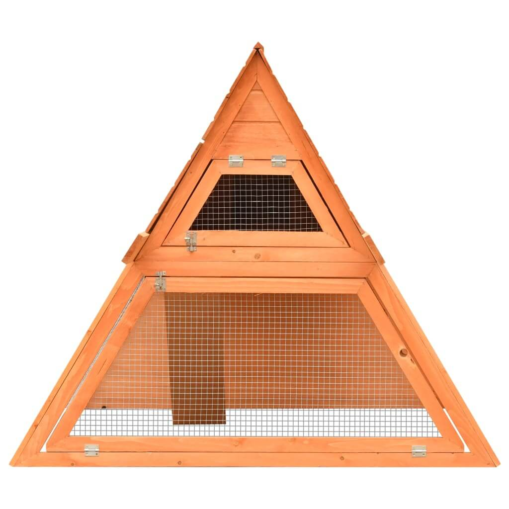 Rabbit Hutch Solid Pine and Fir Wood Front View Everyday Pets
