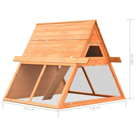 Image of Rabbit Hutch Solid Pine and Fir Wood Measurement and Diameter Everyday Pets