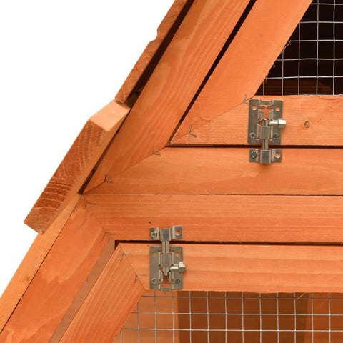 Image of Rabbit Hutch Solid Pine and Fir Wood Safety Side Bolt Latches Everyday Pets