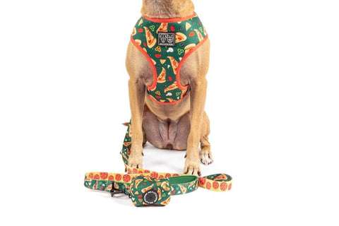 Image of Big-Little-Dogs-Reversible-Dog-Harness-and-Poop-Bag-Holder-Pupperoni-Pizza