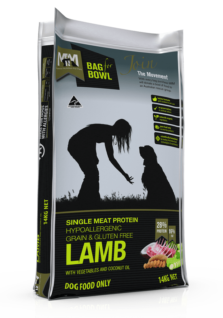 Meals For Mutts Grain Free Single Meat Protein Lamb Dry Dog Food 14kg Everyday Pets