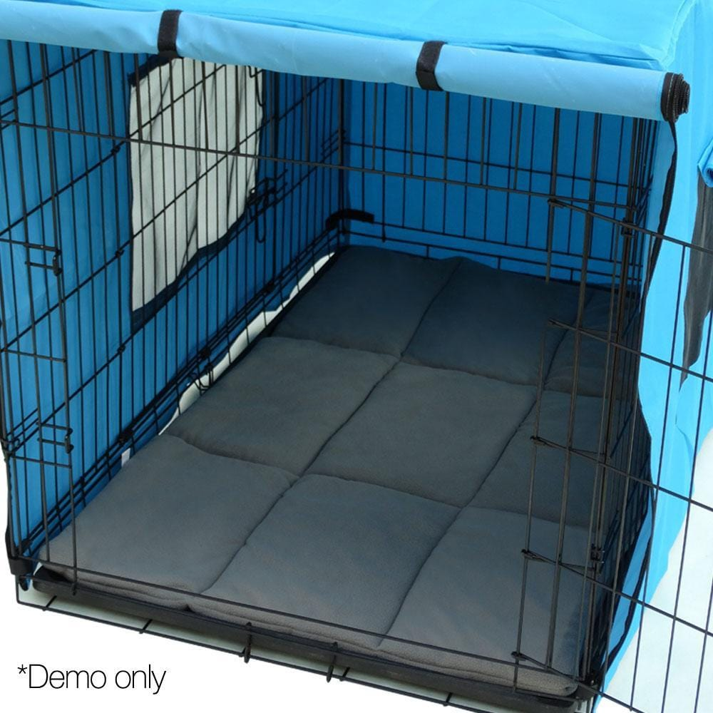 I.Pet Metal Collapsible Pet Cage Cushions Grey