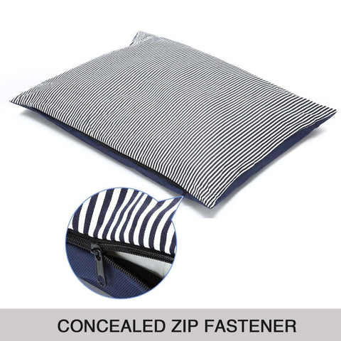 Image of Soft Washable Pet Bed Mattress With Blanket & Dog Bone Concealed Zip Fastener Everyday Pets