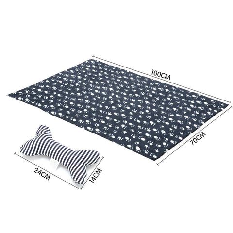 Image of Soft Washable Pet Bed Mattress With Blanket and Dog Bone Matress Measurement and Dimension Everyday Pets