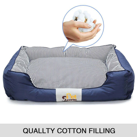 Image of Soft Washable Pet Bed Mattress With Blanket & Dog Bone Quality Cotton Filling Everyday Pets