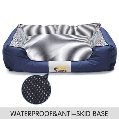 Image of Soft Washable Pet Bed Mattress With Blanket Anti Skid and Waterproof Base Everyday Pets