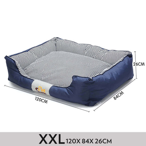 Image of Soft Washable Pet Bed Mattress With Blanket & Dog Bone-XXLarge Measurement Everyday Pets