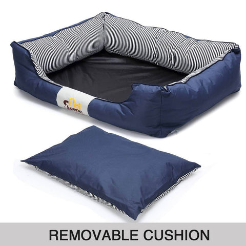 Image of Soft Washable Pet Bed Mattress With Blanket & Dog Bone with Removable Cushion Everyday Pets