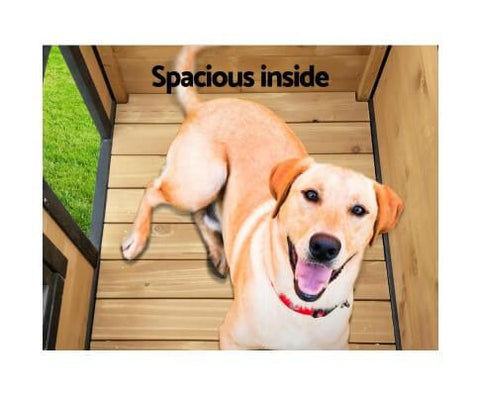 Image of Spacious and Comfortable Large Indoor Outdoor Dog House Kennel