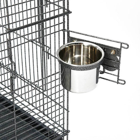 Image of Stainless Steel Feeder for Pet Bird Cage