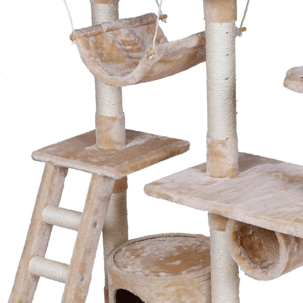 Sturdy Construction Multi Platform Cat Tree 150cm