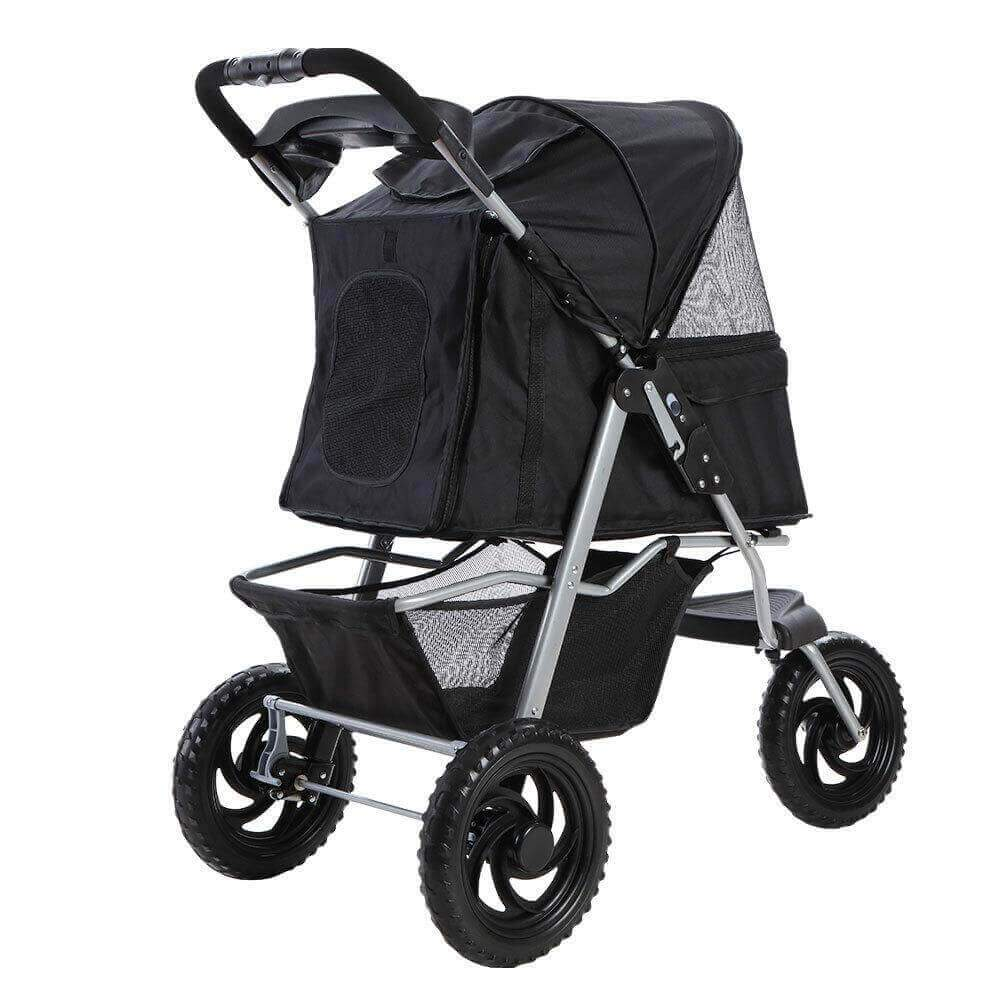 Sturdy 600D Oxford Pet Friendly Stroller Dog Puppy Pram