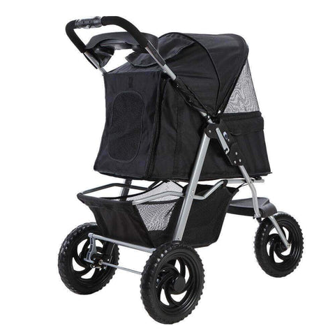 Image of Sturdy 600D Oxford Pet Friendly Stroller Dog Puppy Pram