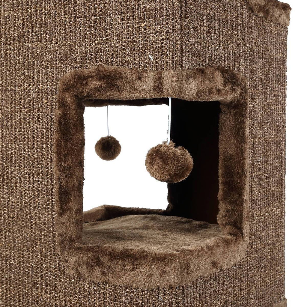 Stylish Playtime Cat Scratching  Tunnel House