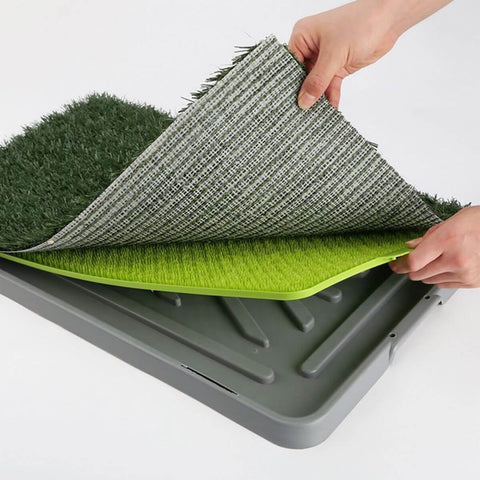 Image of Synthetic Grass Mat Tray 3 Piece High Quality Strong PVC Material