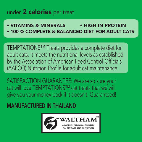 Image of Temptations Cat Treats Seafood Medley 6x 85g Product Information