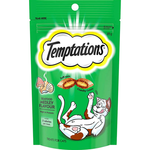 Image of Temptations Cat Treats Seafood Medley 6 x 85g Product