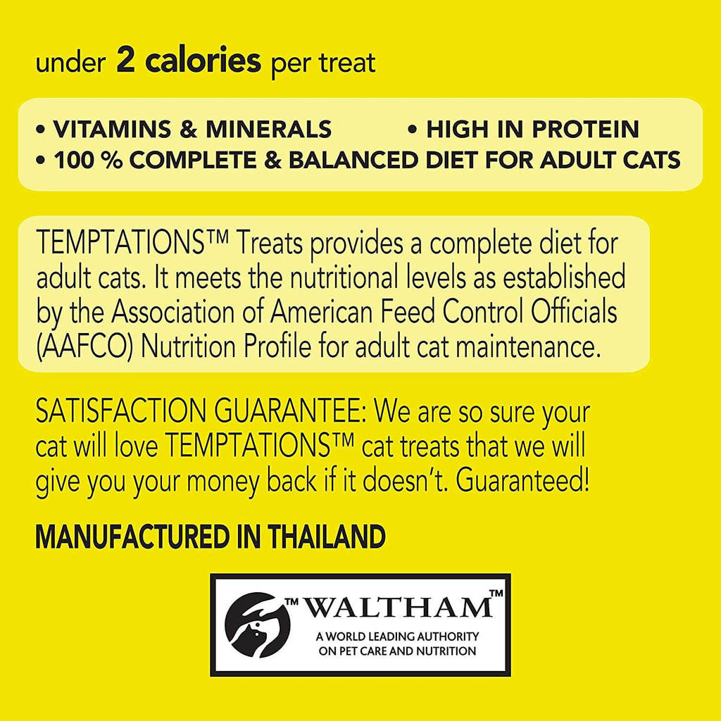 Temptations Cat Treats Tasty Chicken 85g Product Information