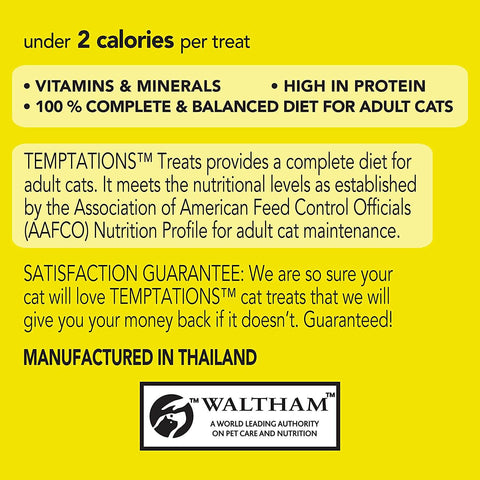 Image of Temptations Cat Treats Tasty Chicken 85g Product Information