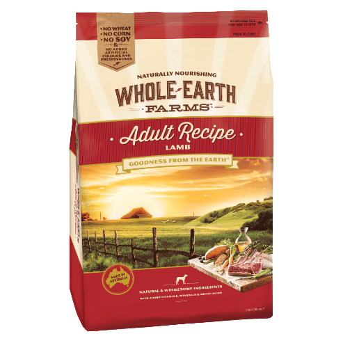 Whole Earth Farms Adult Dog Food Lamb 3kg Everyday Pets