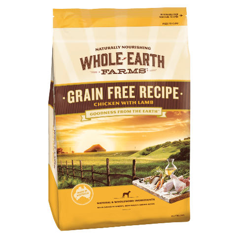 Whole Earth Farms Adult Grain Free Dry Dog Food Chicken & Lamb 12kg Everyday Pets