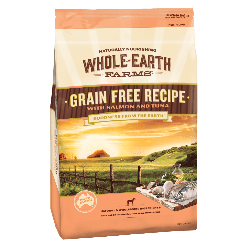 Whole Earth Farms Grain Free Adult Dry Dog Food Salmon & Tuna 12kg Everyday Pets