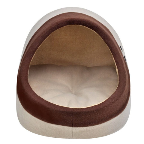 Image of Warm-Fleece-Cat-Cubby-XL-Front-View-Entry-Hole